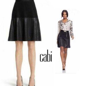 CAbi • Owens A-Line Faux Leather Skirt || Medium